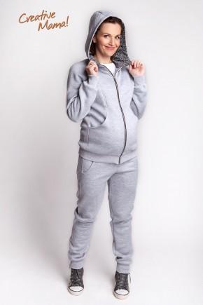 Cпортивный теплый костюм для беременных и кормящих Evo (утепленный хлопок)