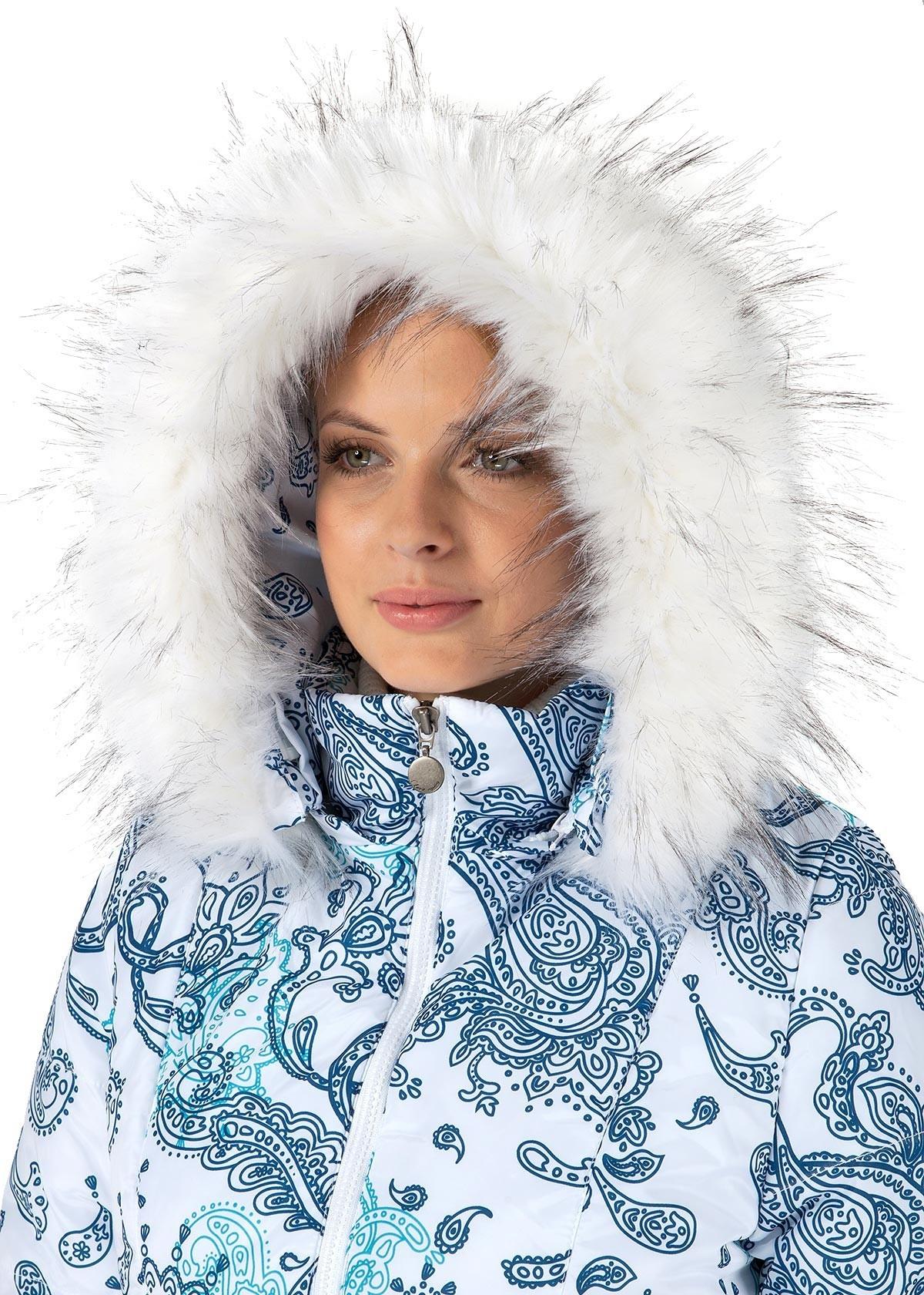 87273554ec92 Куртка для беременных зимняя 2в1 Тори пэйсли на белом купить в ...