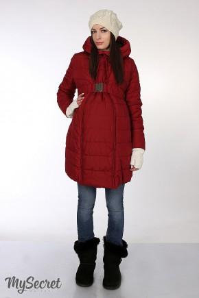 """Зимнее пальто 2в1 """"Neva"""" бордовое для беременных"""