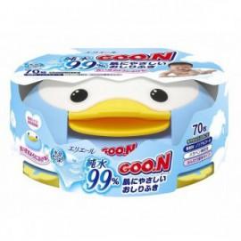 Детские влажные салфетки для младенцев в пластиковой коробке (70шт)