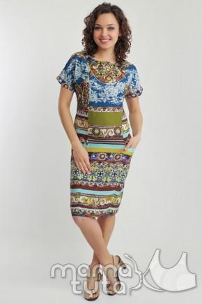 Платье летнее для кормящих (орнамент)