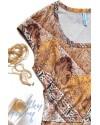 Топ без рукавов для кормящих (орнамент восточного шелка)