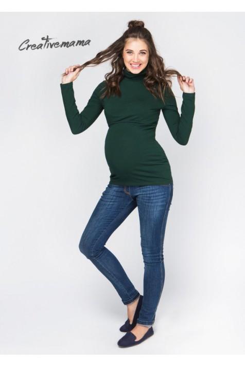 Водолазка для беременных и кормящих Creative Mama Emerald Темно/Зеленый