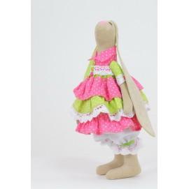 Интерьерная кукла Зайка Красотка в пушистой юбке