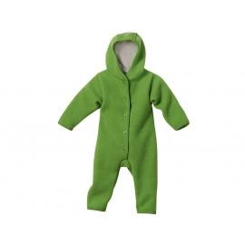 Комбинезон с капюшоном зеленый из свалянной шерсти, Disana
