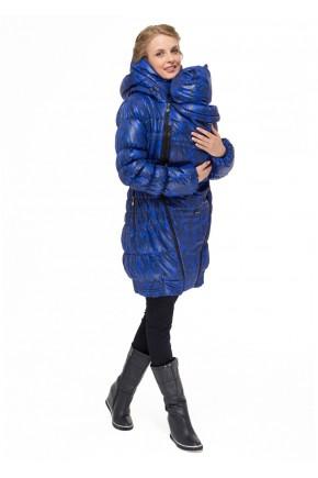Слингокуртка зимняя 3в1 для беременных и слингоношения I love mum Исландия черно/синяя арт 38367