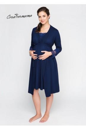 Халат для беременных и кормящих Creative Mama Royal
