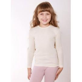 Термокофта Cosilana для девочки c длинным рукавом из хлопка, шерсти и шелка натурного цвета