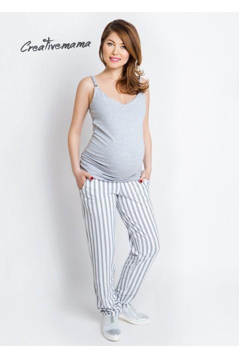 Топ для беременных и кормящих Creative Mama Basic Grey