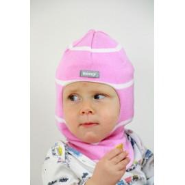 Демисезонный шлем Beezy арт. 1511 розовый/белый