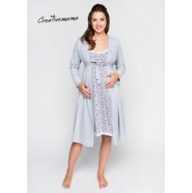 Халат для беременных и кормящих Creative Mama Melange хлопок