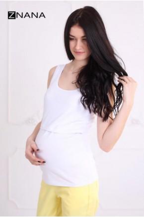 Майка для беременных и кормящих ZNANA Simple белая