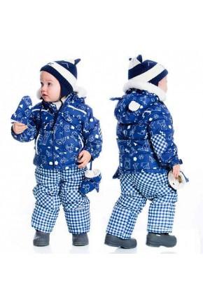 Зимний комплект для мальчика Deux par Deux A501B синий