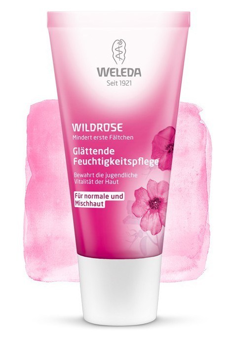 Розовый разглаживающий легкий крем для лица Weleda 30 мл