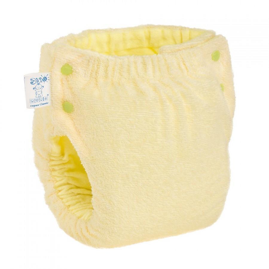 Подгузник многоразовый Экопупс Easy Size Premium с карманом без вкладыша  желтый ... d4c31ec787c