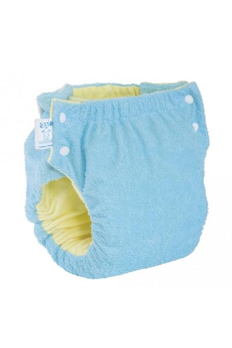 Подгузник многоразовый Экопупс Easy Size Premium с карманом без вкладыша синий