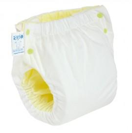 Подгузник многоразовый с карманом Экопупс Easy Size Classic без вкладыша белый