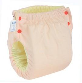 Подгузник многоразовый с карманом Экопупс Easy Size Classic без вкладыша персиковый
