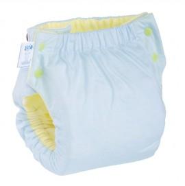 Подгузник многоразовый с карманом Экопупс Easy Size Classic без вкладыша синий