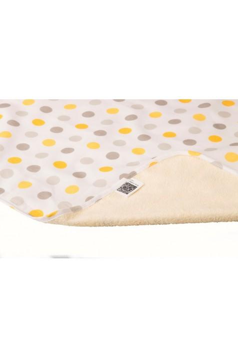 Непромокаемая двусторонняя пеленка Эко Пупс Eco Cotton хлопок 50х70 и 65х90 см горошек