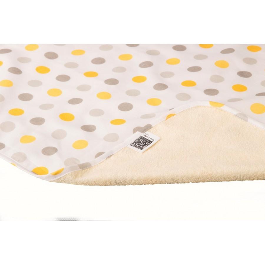 Непромокаемая двусторонняя пеленка Эко Пупс Eco Cotton хлопок 50х70 и 65х90  см горошек ... b14e3a4f8a9