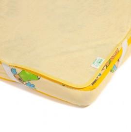 Детский непромокаемый наматрасник Эко Пупс Поверхность  Classic желтый