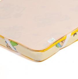 Детский непромокаемый наматрасник Эко Пупс Поверхность Premium персиковый