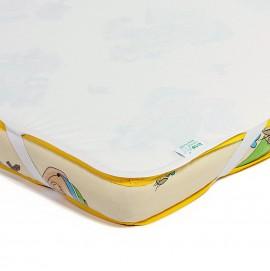 Детский непромокаемый наматрасник Эко Пупс Поверхность Premium молочный