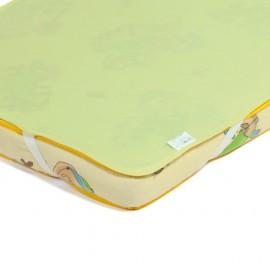 Детский непромокаемый наматрасник Эко Пупс Поверхность Premium зеленый