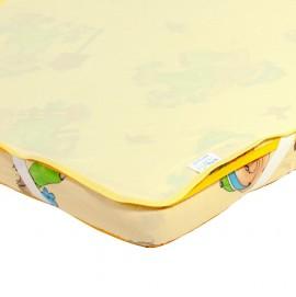 Детский непромокаемый наматрасник Эко Пупс Поверхность Premium желтый