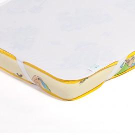 Детский непромокаемый наматрасник Эко Пупс Поверхность Premium белый