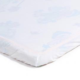 Детский непромокаемый наматрасник Эко Пупс Чехол Premium белый