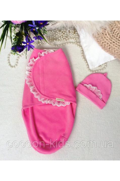 Евро-пеленка на липучке Cocoon арт. 10.112 комплект розовый 0-3 мес