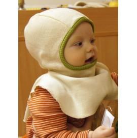 Шапка-шлем из шерсти мериноса в разных цветах MaM ManyMonths молочный