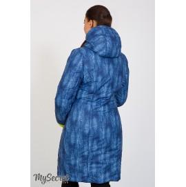 Зимнее двухстороннее пальто для беременных Юла Мама Kristin print арт. OW-47.032