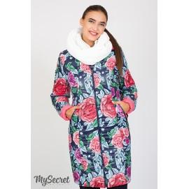 Зимнее двухстороннее пальто для беременных Юла Мама Kristin print арт. OW-47.031
