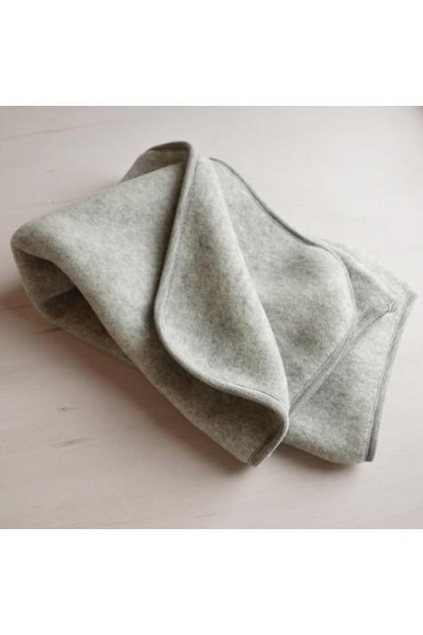 Детский плед Engel флисовая шерсть арт. 57 8500/091 серый меланж