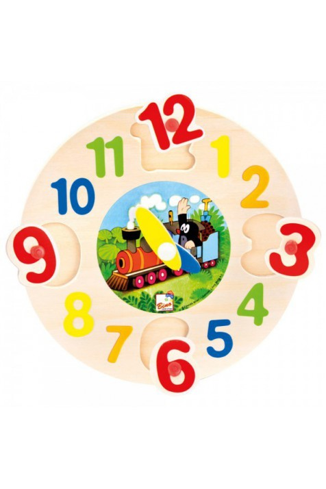Часы-пазл Bino арт. 13751 Крот