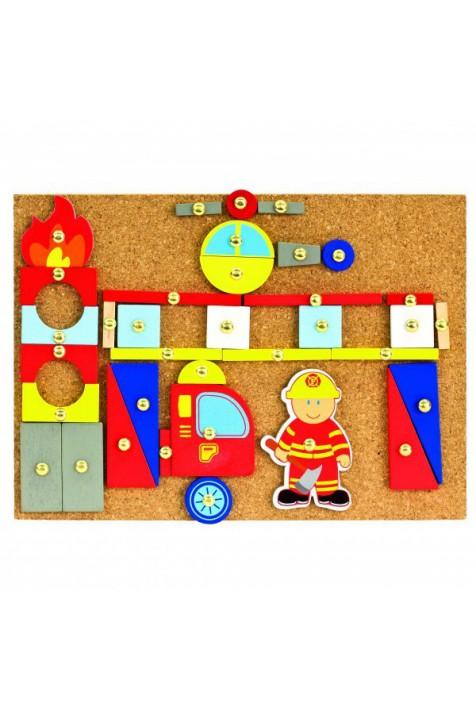 Игровой набор с молоточком Bino Пожарники арт. 82197