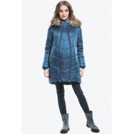 Куртка зимняя 2в1 для беременных Modress Nika зеленая