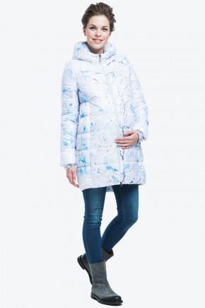 Куртка зимняя 2в1 для беременных Modress Witta принт голубой