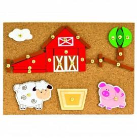 Игровой набор с молоточком Bino Ферма арт. 82198
