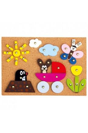 Игровой набор с молоточком Bino Кротик арт. 13737