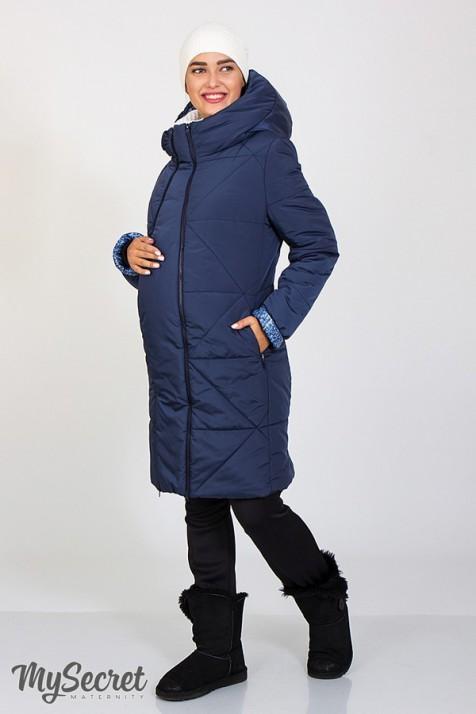 Зимнее теплое пальто для беременных Юла Мама Angie арт. OW-47.042