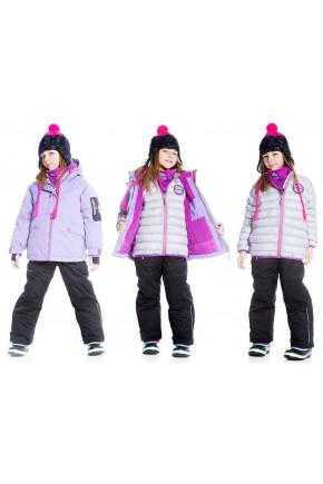 Зимний комбинезон комплект Deux par Deux C803 для девочек
