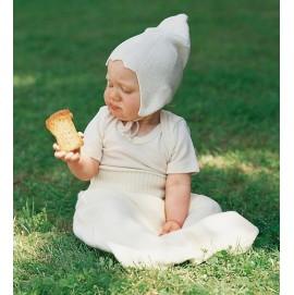 Термошапка для новонароджених Engel з натурального шовку біла