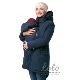 Зимняя куртка-парка 3в1 для беременных и слингоношения Lo-Lo WN013 синяя