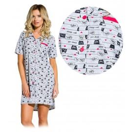 Купить Ночная рубашка для беременных и кормящих Taro Dalia арт. 2139/02