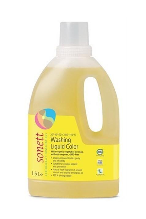 Органич. жидкость д/стирки Color Sonett, 1.5л.