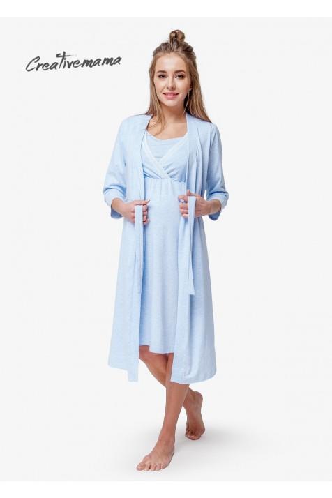 Комплект в Роддом Creative Mamа Blue Coton хлопок ☀ Купить в Киеве 4cd7ef059eb34